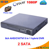 8 Channel Ahd Cvi Tvi 5 in 1 CCTV Standalone DVR