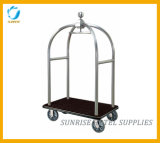 Stainless Steel Birdcage Luggage Trolley with Titanium