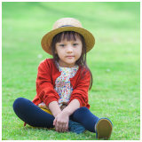 100% Wool Red Knitted Kids Clothes for Girls