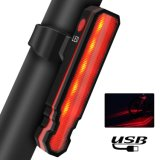 USB Rechargeable Flashlight Bicycle LED Laser Polyline Tail Light
