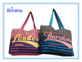 Stripe Style Reverse Color Hot Selling Beach Canvas Bag