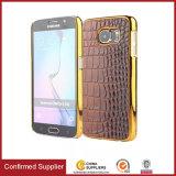 Compatible Brand Electroplate Golden Crocodile Grain PC Phone Case