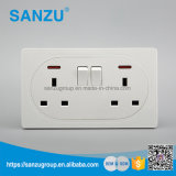 Factory Price High Quality Home Use 2 Gang 13A White Socket