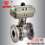 2PC Flanged Stainless Steel Ball Valve with Actuator (JIS10K)