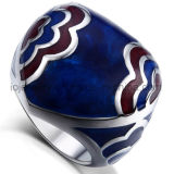 Custom Enamel Pattern Ring Jewelry