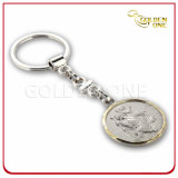 Promotion Embossed Engrave Logo Souvenir Metal Keychain
