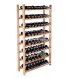 Wood Wine Rack 120 Bottle 8 Tier Storage Display Shelves