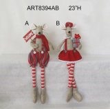 Long Leg Mouse Sitter Holiday Decoration Gift-2asst.
