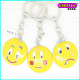 Promotional Cheap Alloy Custom Metal Emoji Keychain From China