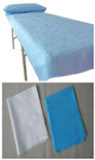 Economic White/Blue Nonwoven Bed Sheet for Medical Usage