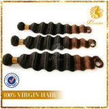 Two Tone Color Full Cuticle Hair Deep Wave Hot Sale Hair Extension Weft-35
