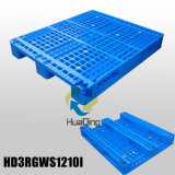 1200*W1000*H150mm Medium Duty Plastic Pallets; 3 Runners; Open Deck; with Steel Tubes