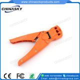 Network RJ45 Rj11 Rj12 Modular Plug Crimping Tool with Cable Stripper (T5003)