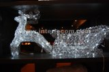 Acrylic Reindeer Sleigh Light with LED (IL10903R)