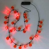 Pumpkins Beads LED Light up Flashing Necklace
