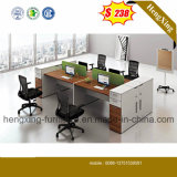 (HX-PT14026) Modern Office Table 4 Seats Staff Office Partition