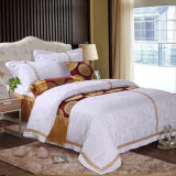 White Cotton Embroidered Duvet Cover (DPF061047)