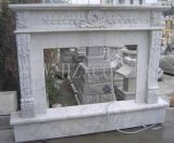 White Marble/Yellow Marble/Granite Fireplace for Indoor Decoration