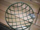 Round Wire Basket for Hanging, W/Chain, Coco Liner, Garden Decoration