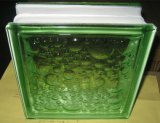 Green Water Bubble Glass Block