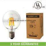 G125 G95 UL/cUL 6W Globe LED Filament Bulb