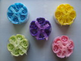 Soap Flowers in Round Gift Set for Promotion