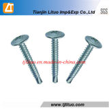 Wafer Head Self Drilling Screw Zinc Plated