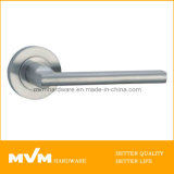 Stainless Steel Door Handle on Rose (S1007)