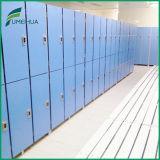 Waterproof 2 Tiers Plain /Woodgrain Color Athletic Phenolic Lockers/ HPL Compact Laminate Board