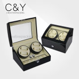 4+6 Top Quality Black Piano Automatic Wood Watch Winder