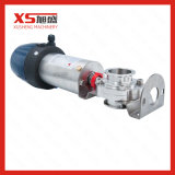 Sanitary Food Grade Ferrule End Pneumatic Butterfly Valve with Controller