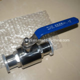 Sanitary Stainless Steel High Temperature Pneumatic Tri-Clamp Ball Valve