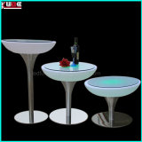 LED Furniture/Illuminated Furniture Factory Round Table with Metal Base