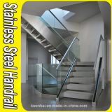 Indoor Stair Railing Glass Balustrade in Stainless Steel