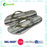 EVA Sole and PVC Straps with Logo, Women′s Slippers