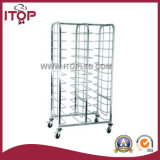 Japanese-Style Stainless Steel Tray Trolley with 6 Pan Layer Cart (A1059)