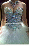 Gorgeous Sequin Ball Gown Sweetheart Tulle Fashion Bridal Gown Wedding Dress (W-03)