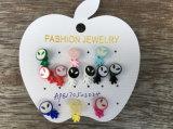 Lovely Multi-Colour Alien Set Small Earrings Fashion Jewelry