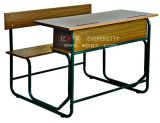 New Sample of Double School Bench in Factory