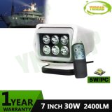 7inch 30W Wireless Remote 360 Degree Rotatable LED Search Light