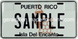 Puerto Rico Souvenirs Name License Plate