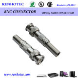 BNC Plug Connector with Spring Electrical Wire Connector