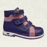 Shiny Purple Style Children Stability Boots Kids Orthopedic Shoes