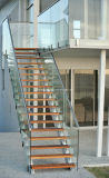 Modern Glass Staircase with Tempered Glass (PR-L10)