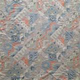 Printed Heavy Spun Silk Poplin in Geometric Pattern