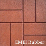 Color Brick Surface Rubber Tile for Garden with En1177