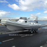 Liya 8.3m Fiberglass Rib Boat Inflatable Cabin Motor Boat