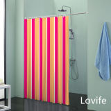 Shower Curtain Bathroom Waterproof Curtain (JG-218)