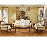 Real Leather Royal Living Room Furniture Sofa Set 3+2+1