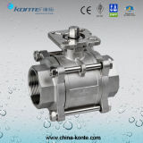 "2"" CF8m 3PC Ball Valve with ISO 5211 Mounting"